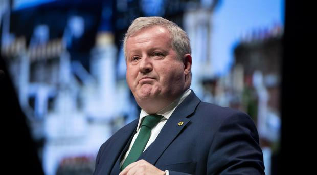 Westminster leader Ian Blackford MP delivers his address at the opening of the 2019 SNP autumn conference (Jane Barlow/PA)