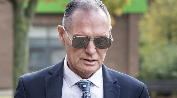 Former England footballer Paul Gascoigne arrives at Teesside Crown Court in Middlesbrough where he is appearing on charges of sexually assaulting a woman on a train. PA Photo. Picture date: Monday October 14, 2019. Mr Gascoigne was arrested for kissing a woman in August 2018 on a train between York and Newcastle. See PA story COURTS Gascoigne. Photo credit should read: Danny Lawson/PA Wire