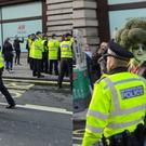 A man dressed as broccoli being arrested (Robert Greener)