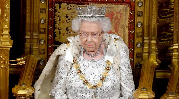 The Queen during the State Opening of Parliament (Victoria Jones/PA)
