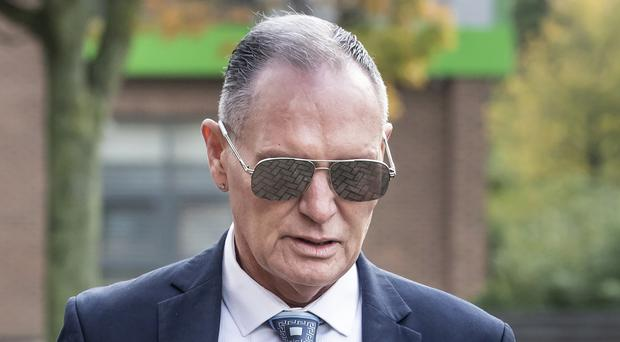 Paul Gascoigne arrives at Teesside Crown Court in Middlesbrough (Danny Lawson/PA)