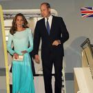 The Duke and Duchess of Cambridge arrive in Pakistan (Owen Humphreys/PA)