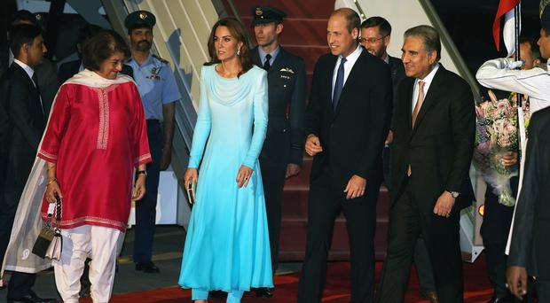 The Duke and Duchess of Cambridge arrived in Pakistan on Monday (Owen Humphreys/PA)