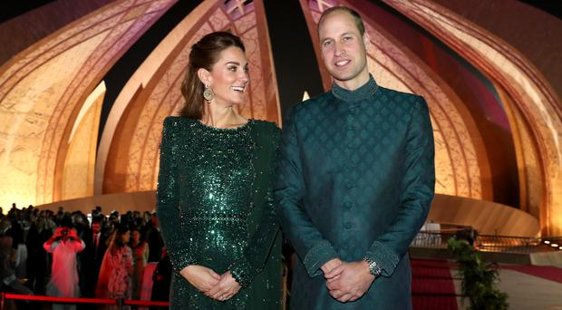 The Duke and Duchess of Cambridge attend a reception hosted by the British High Commissioner to Pakistan (Chris Jackson/PA)