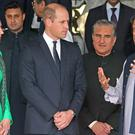 The Duke and Duchess of Cambridge with the Prime Minister of Pakistan Imran Khan