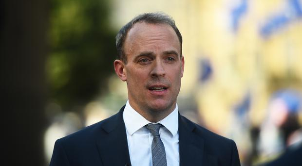 Dominic Raab said the UK will continue selling arms to Turkey but will not grant new export licences for weapons that might be used in military operations against Kurds in Syria (Kirsty O'Connor/PA)