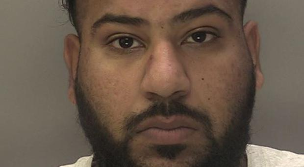 Mubashar Hussain, 29, who pleaded guilty to causing grievous bodily harm to Pc Gareth Phillips (West Midlands Police/PA)