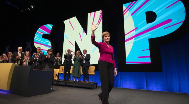 Nicola Sturgeon confirmed she will seek the power to hold a legally binding independence referendum before the the end of the year. (Jane Barlow/PA)