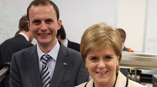 Stephen Gethins and Nicola Sturgeon (Jane Barlow/PA)