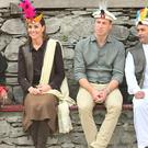 The Duke and Duchess of Cambridge during a visit to a settlement of the Kalash people in Chitral, Pakistan on the third day of the royal visit to the country (Samir Hussein/PA)