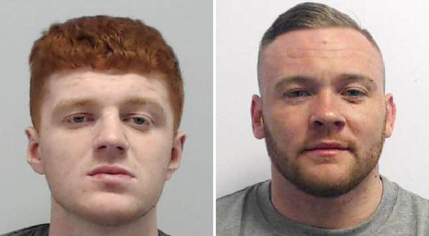 Lewis Fisher and Joseph Pownall were jailed at Manchester Crown Court (Greater Manchester Police/PA)