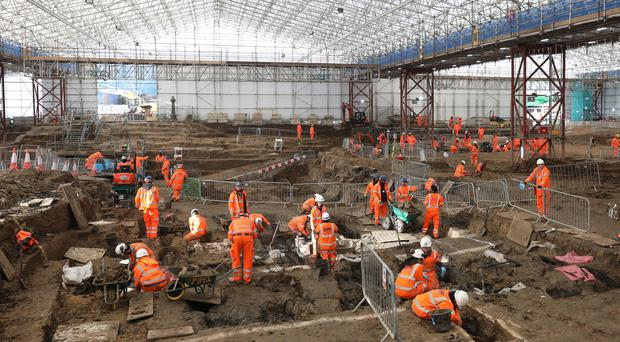 Archaeologists on the HS2 project in St. James's burial ground, Euston, discovered remains of Captain Matthew Flinders (HS2 Ltd/PA)