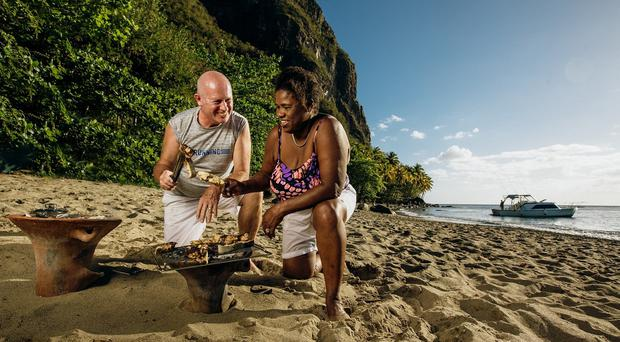 Bill and Cath Mullarkey built their dream home in St Lucia (Camelot/PA)