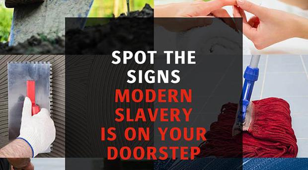 Undated handout photo issued by Crimestoppers and Gangmasters Licensing and Abuse Authority (GLAA) as part of their campaign calling on members of the public to report suspicions about possible modern slavery cases.