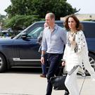 The Duke and Duchess of Cambridge depart from Lahore Airport (Peter Nicholls/PA)