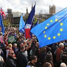 Anti-Brexit protesters fill Parliament Square (Andrew Matthews/PA)
