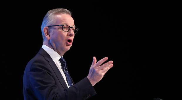 Chancellor of the Duchy of Lancaster Michael Gove said the UK would still leave the EU by October 31 (PA)