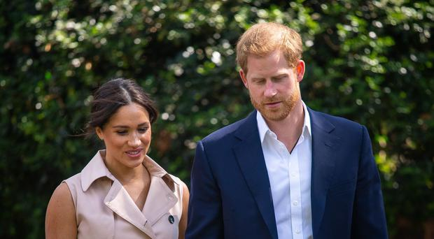 The Duke and Duchess of Sussex in Johannesburg, South Africa (Dominic Lipinski/PA)
