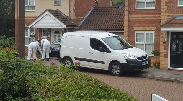 Police in Milton Keynes where two teenage boys were stabbed to death (Gus Carter/PA)