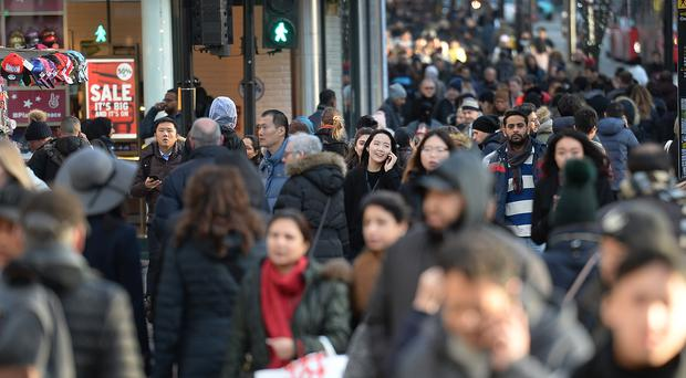 The UK population is expected to increase by three million over the next decade (John Stillwell/PA)