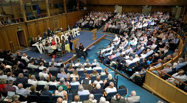 The General Assembly of the Church of Scotland in Edinburgh (Jane Barlow/PA)