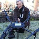 Former West Sussex County Council leader Louise Goldsmith in February 2018 with the council's new drone (West Sussex County Council/PA)