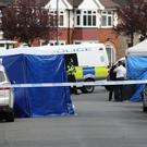 A police cordon in place on Church Road in Erdington, Birmingham (PA)