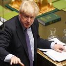 Boris Johnson speaks in the Commons (UK Parliament/Jessica Taylor/PA)