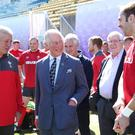 The Prince of Wales is in Japan and visited the Welsh rugby side (Adam Davy/PA)