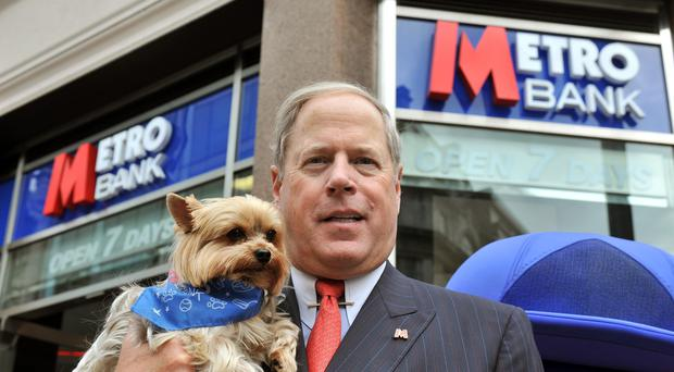 Metro Bank founder and chairman Vernon Hill has stepped down with immediate effect after a difficult past year for the troubled lender (John Stillwell/PA)