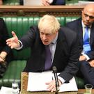Prime Minister Boris Johnson speaking in the House of Commons during the Brexit debate on Tuesday (UK Parliament/Jessica Taylor)