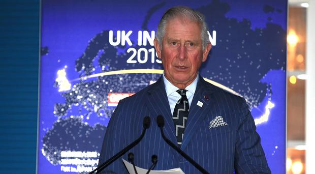 The Prince of Wales at the British Ambassador's Reception in Tokyo, Japan (Adam Davy/PA)