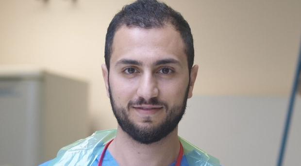 Rawad Qaq undertook a perilous 22-day journey to flee war-torn Syria four years ago (University of Dundee/PA)