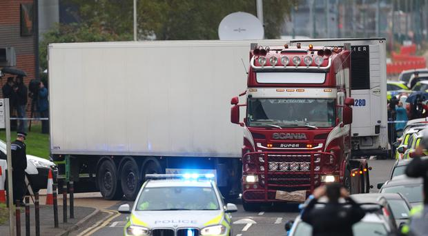 The container lorry where 39 people were found dead inside