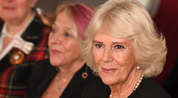 The Duchess of Cornwall attends a talk during a tea reception to mark the 7th anniversary of the National Literacy Trust's Books Unlocked programme (Jeff Spicer/PA)