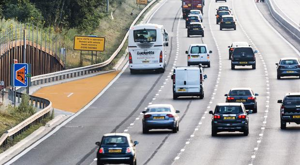 Smart motorways are designed to increase capacity and cut congestion (Highways England/PA)