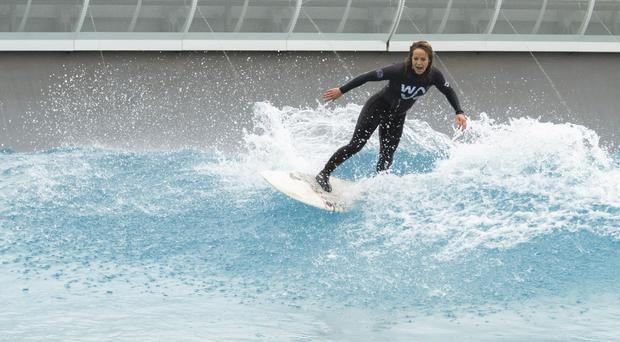 Wave ambassador and Olympic snowboarder Jenny Jones launches The Wave in Bristol (Adam Gasson/PA)