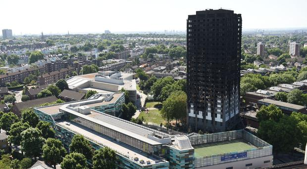 Grenfell Tower in west London (David Mirzoeff/PA)