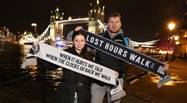 Walkers participate in the first Lost Hours Walk (Hannah Goodwin/CALM/PA)