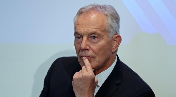 Former prime minister Tony Blair said any short-term extension would only postpone the threat of no-deal (Aaron Chown/PA)