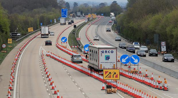 The M20 motorway near Ashford in Kent, where Operation Brock will be activated (Gareth Fuller/PA)