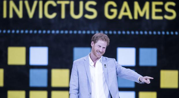Prince Harry during the Invictus Games Closing Ceremony in 2017 (Danny Lawson/PA)