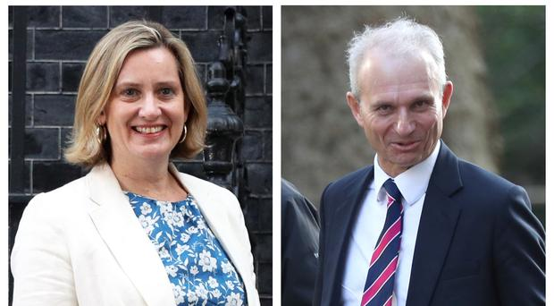 Ex-Cabinet ministers Amber Rudd and David Lidington have both said they will not stand for re-election (PA)
