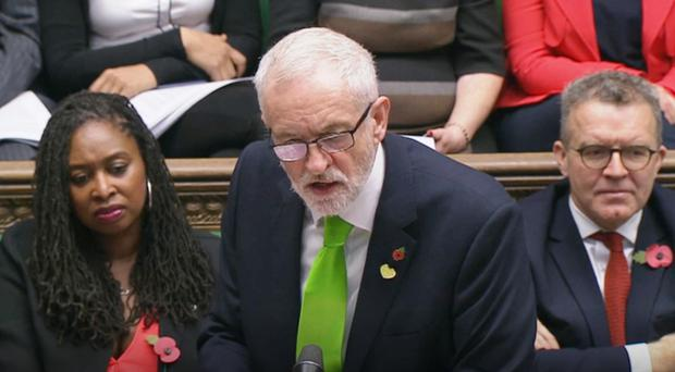 Jeremy Corbyn has accused the Tories of putting the NHS 'up for grabs' (House of Commons/PA)
