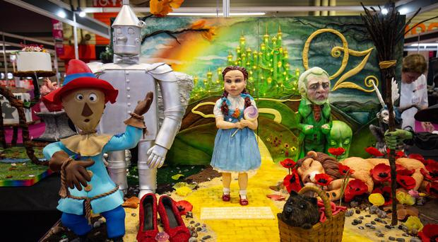A Wizard Of Oz creation on display during Cake International 2019 at the NEC in Birmingham (Jacob King/PA)