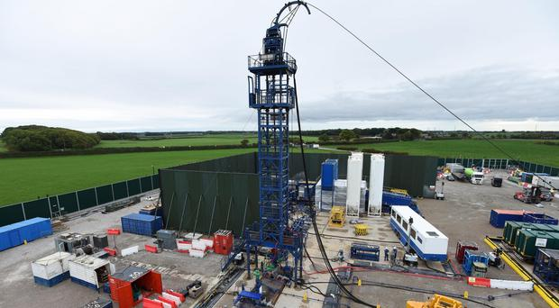 Cuadrilla's hydraulic fracturing site at Preston New Road in Lancashire (PA)