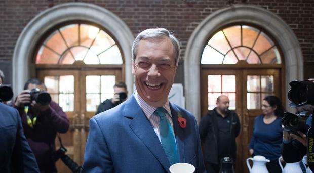 Nigel Farage at the Brexit Party's General Election campaign launch (Stefan Rousseau/PA)