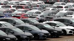 Demand for new cars fell by 6.7% last month (Andrew Matthews/PA)