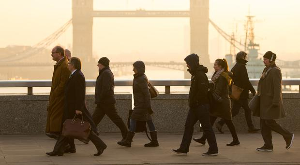 The UK services sector stagnated in October (PA)