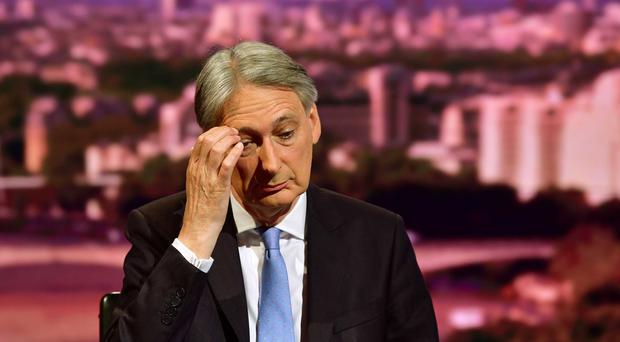 Philip Hammond has resigned as an MP (Jeff Overs/BBC)